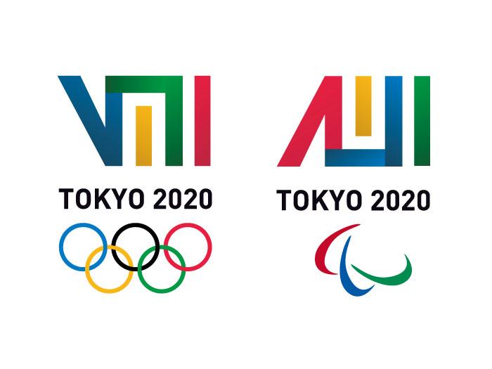 かがり火が香る東京オリンピックのロゴ