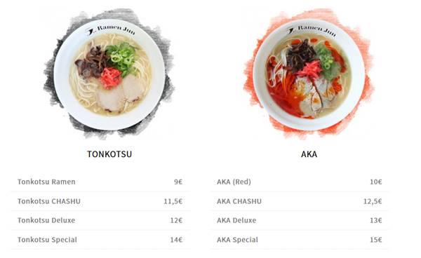 MENU FOOD  Japanisch essen frankfurt  Ramen Jun