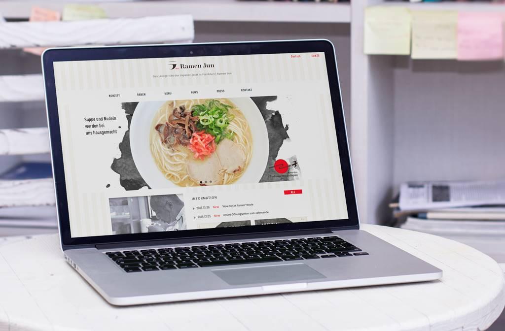 多言語サイト | 和モダンなWEBデザイン | らーめん潤・フランクフルト