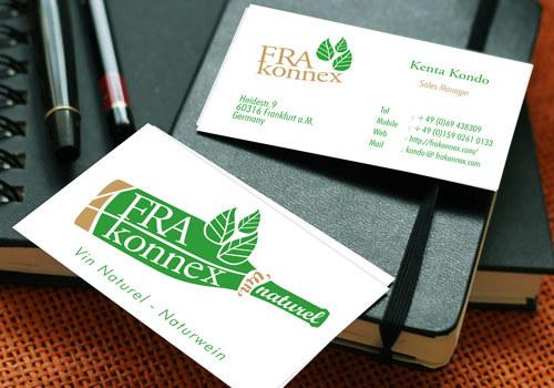 ロゴを活かした名刺デザイン | 自然派ワイン販売FRAkonnex