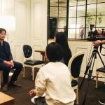 中国版NHKであるCCTVに日本の「マー活」ブームや「麻辣連盟」について取材を受けました